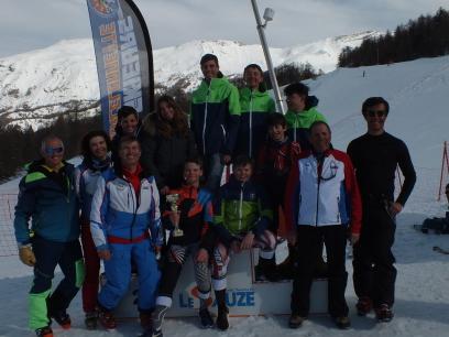 Coureurs et entraineurs de Marseille Provence Ski Team  au Grand Prix 2020