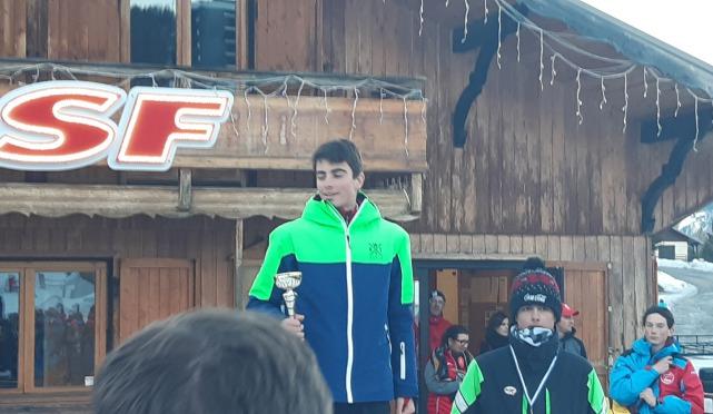 Podium de la 2ème place grand prix de saint antoine, coupe de bronze 2020