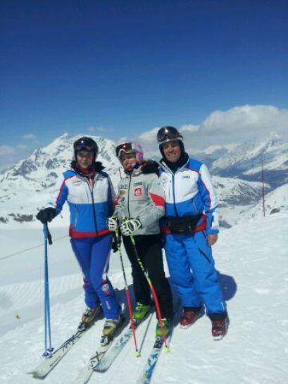 Claire Goetz et Raymond Faget entraineurs à Val d'Isère