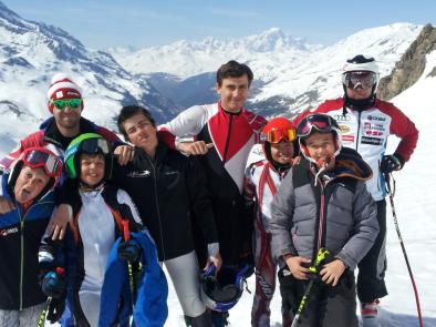 L'équipe Marseille Provence Ski Team au stage 2019 à Val d'Isère
